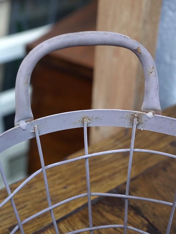 KL10 アンティーク ワイヤーバスケット