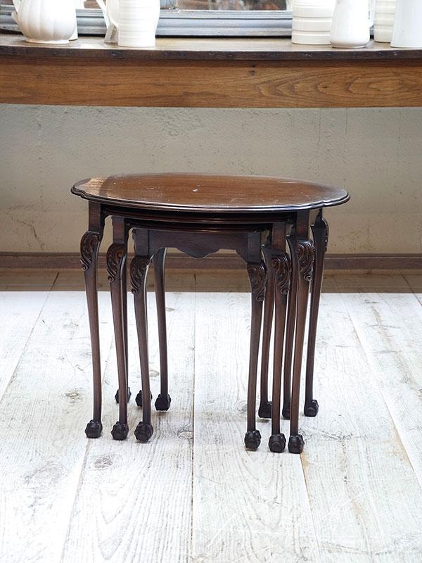 KL94b アンティーク マホガニーネストテーブル