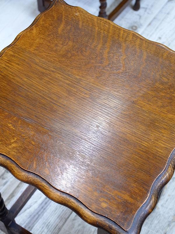 KL104 アンティーク オークサイドテーブル