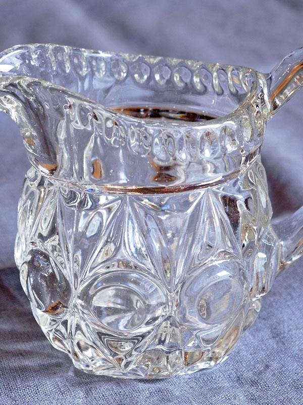 KL34e アンティーク スモールガラスジャグ