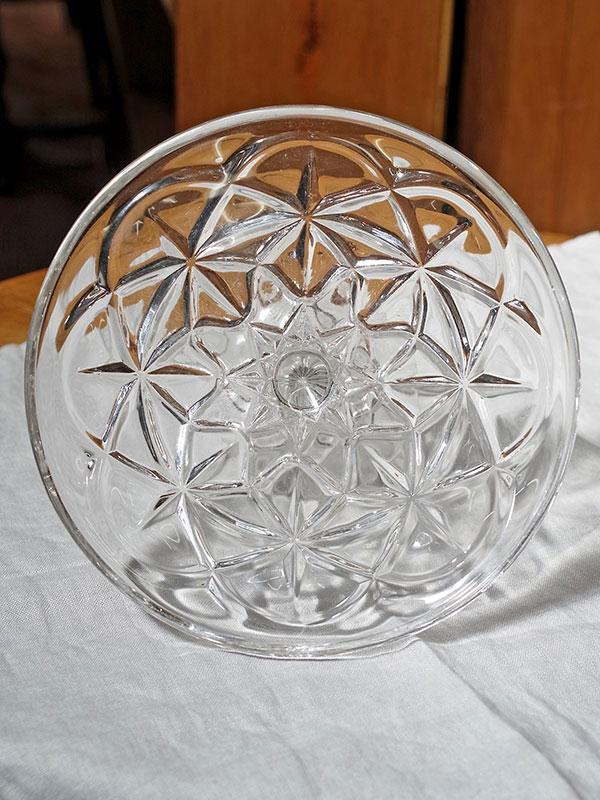 KL33c アンティーク ガラスケーキスタンド