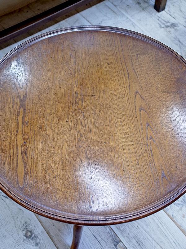 KL123 アンティーク オークラウンドテーブル