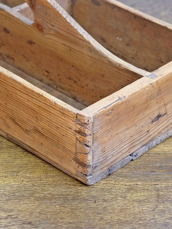 KL14 アンティークパイン カトラリーボックス