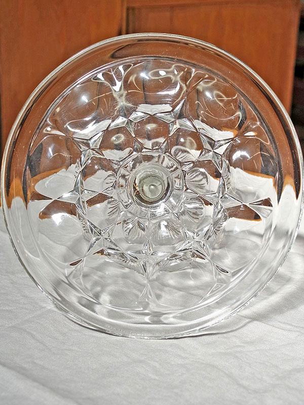 KL33g アンティーク ガラスケーキスタンド