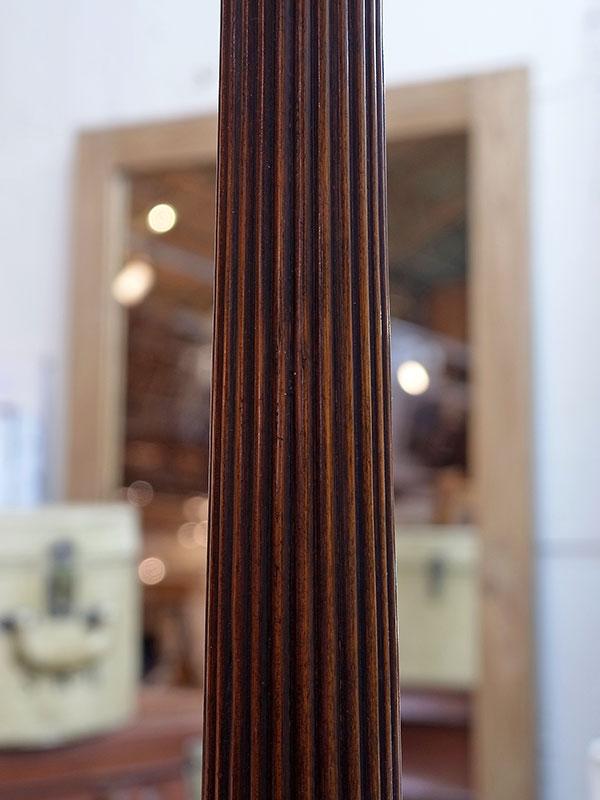KL126a アンティーク マホガニーフロアランプ