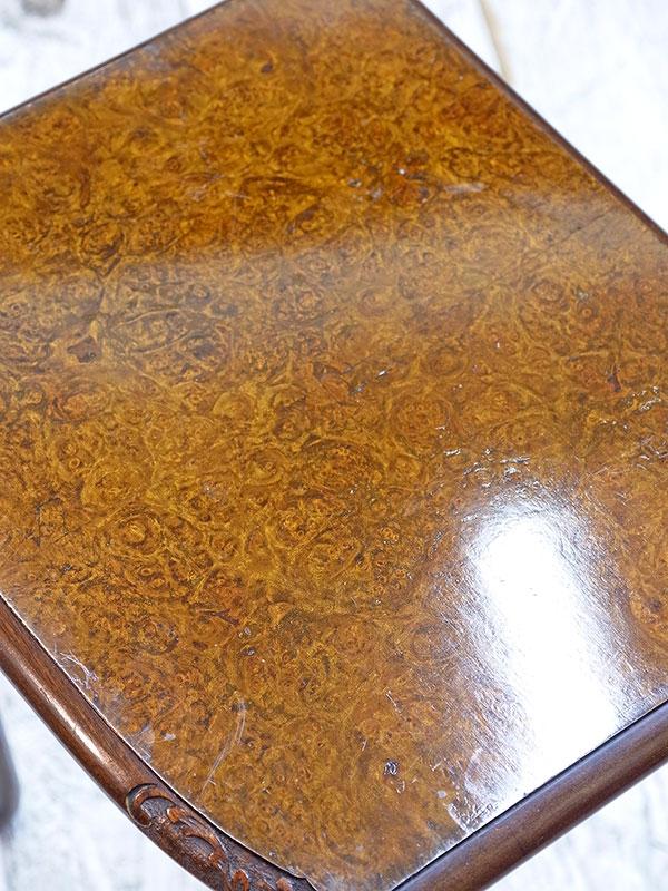 KL94a アンティーク ウォルナットネストテーブル