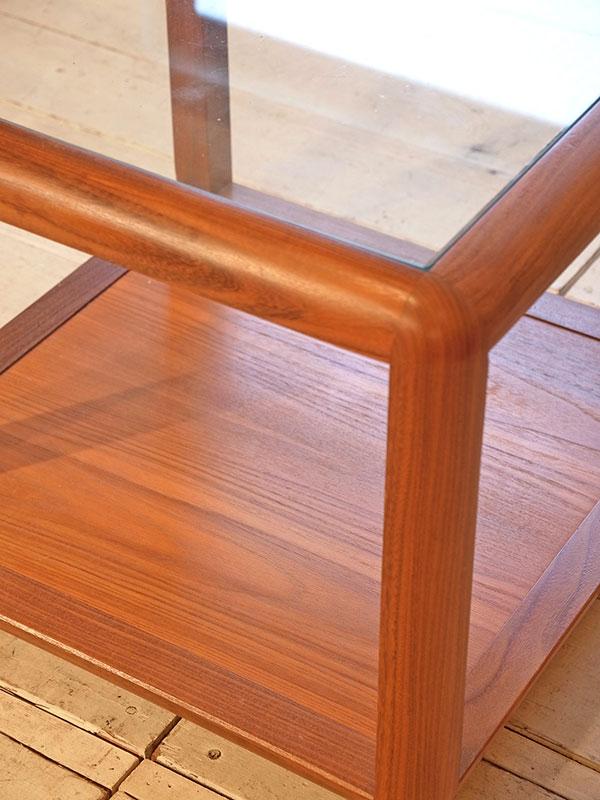 KL146 レトロ ガラステーブル