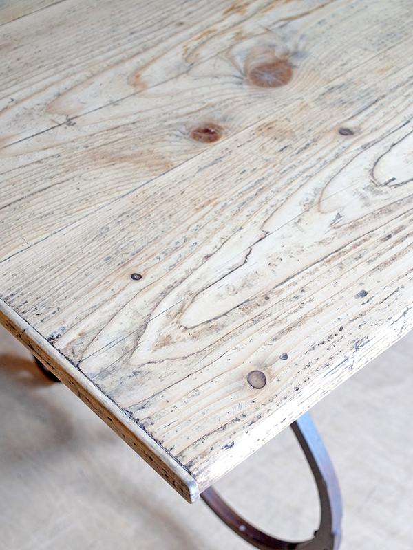 KL88 アンティーク フレンチアイアンレッグテーブル