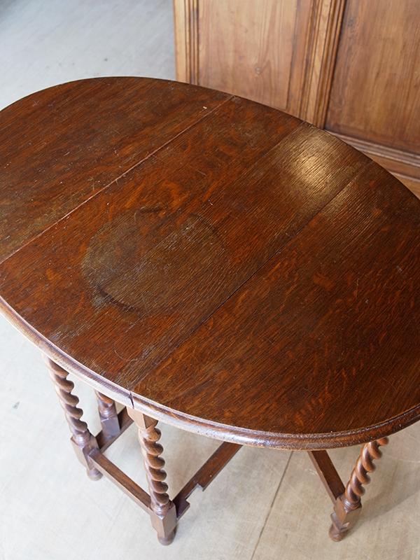 KL121 アンティーク オークゲイトレッグテーブル