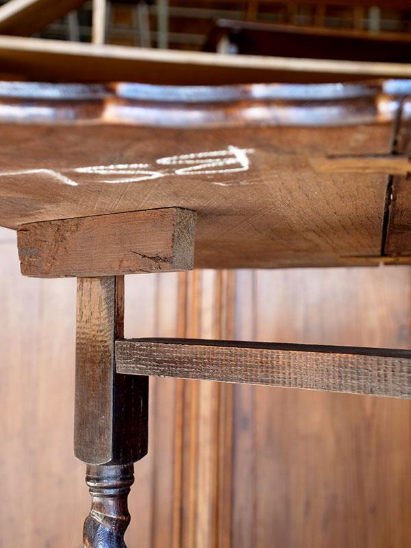 PJ997 アンティーク オークゲイトレッグテーブル