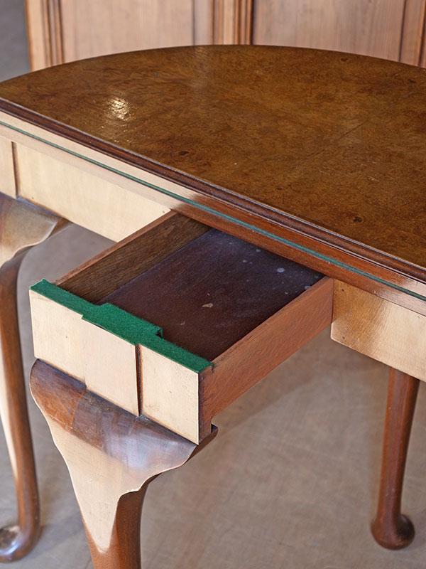 KL99 アンティーク ウォルナットカードテーブル
