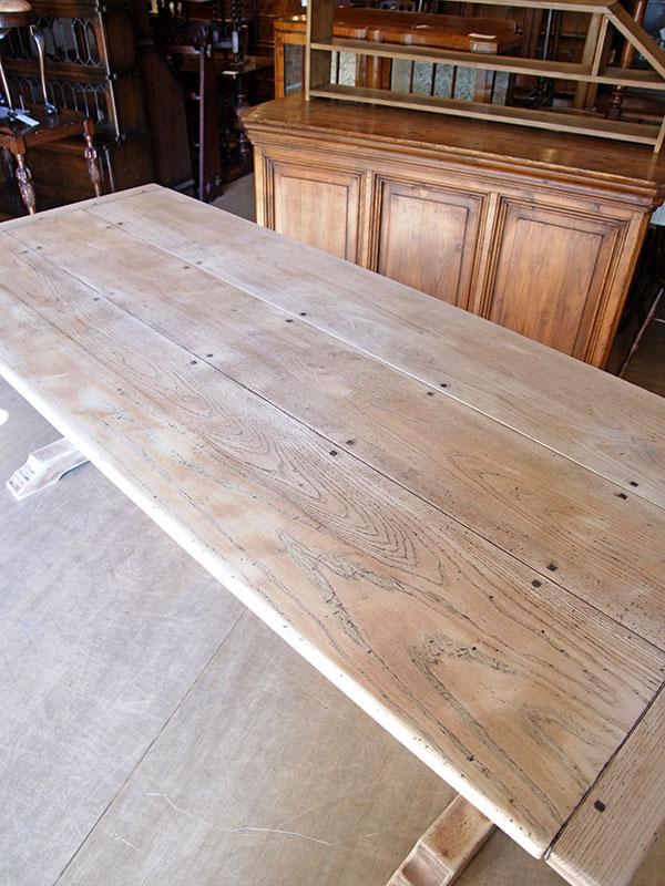 KJ47 アンティーク ビックオークテーブル