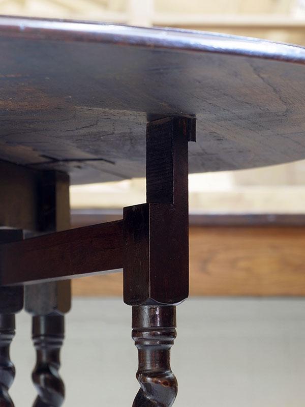 KL95 アンティーク オークゲイトレッグテーブル