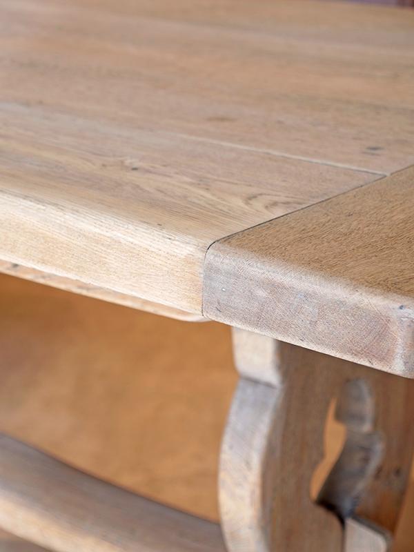 KL158a アンティーク オークレフェクトリーテーブル