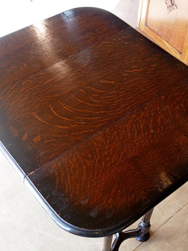 KP157 アンティーク オークスウィングトップテーブル
