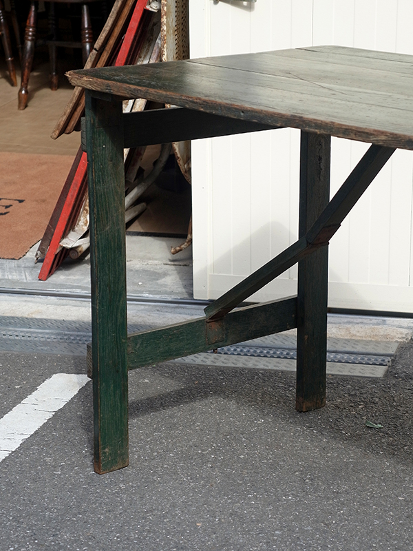 KP14 アンティーク ペイントフォールディングテーブル