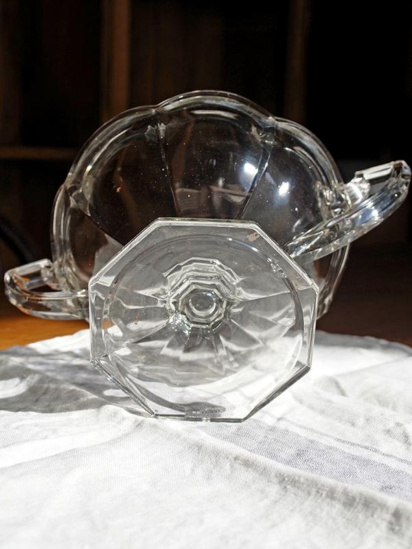 KP9d アンティーク ガラスコンポート