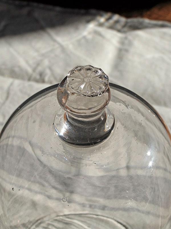 KP29c アンティーク ガラスドームカバー