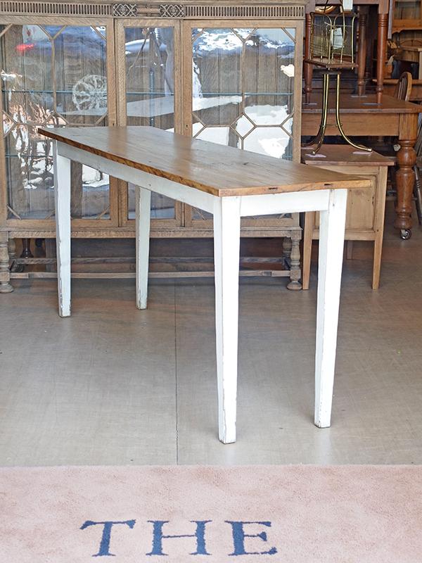 KP52 アンティークパイン ペイントサーバーテーブル