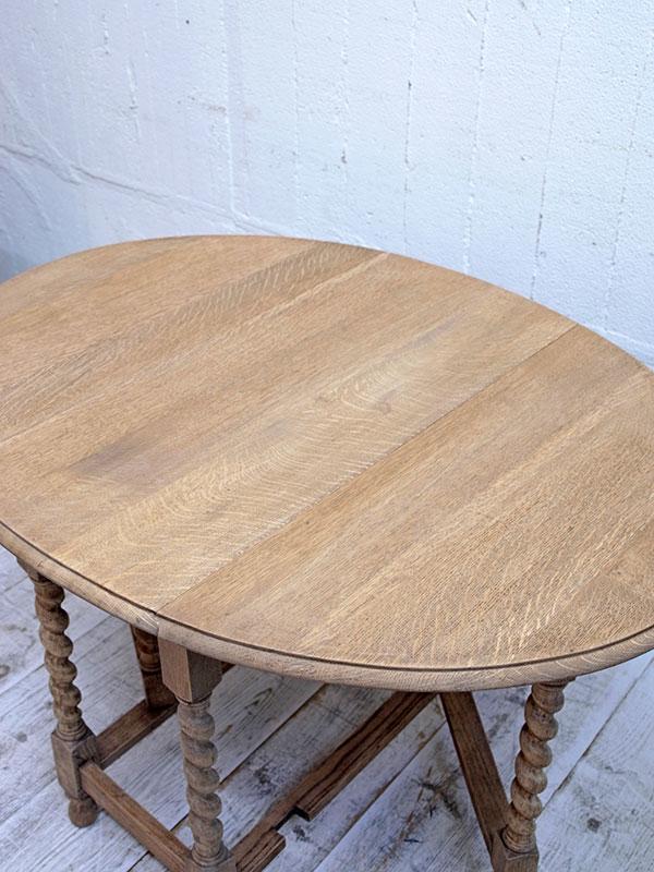 PJ1053 アンティーク オークゲイトレッグテーブル