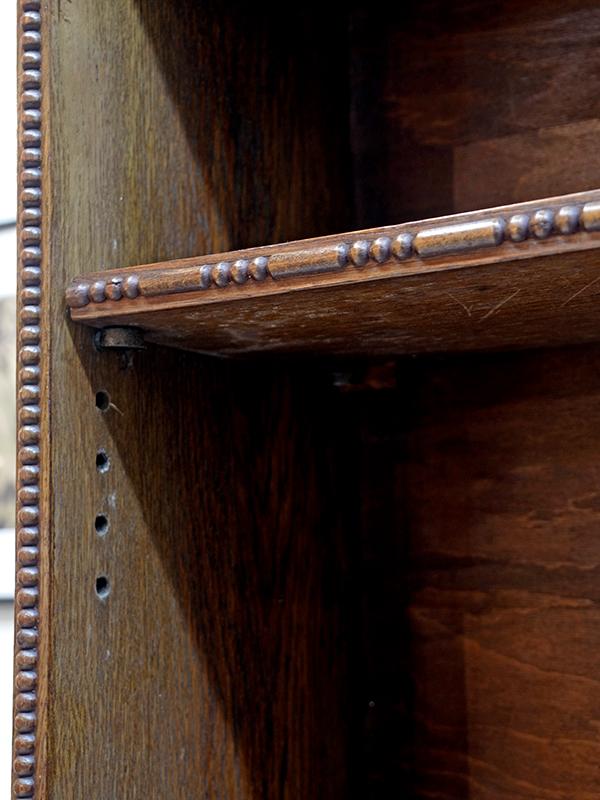 KP220 アンティーク オークオープンブックケース