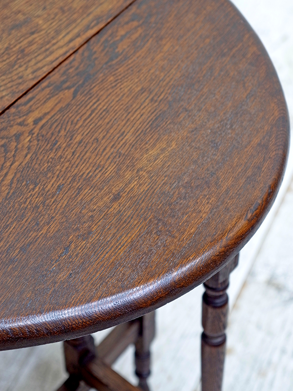 KP179 アンティーク オークゲイトレッグテーブル