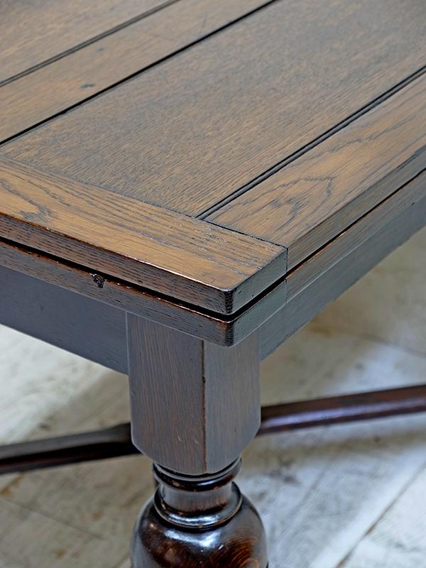 PJ1022 アンティーク オークドロアリーフテーブル