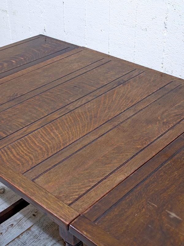 KP177 アンティーク オークドロアリーフテーブル