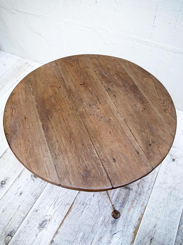 KQ4 アンティーク フレンチラウンドテーブル