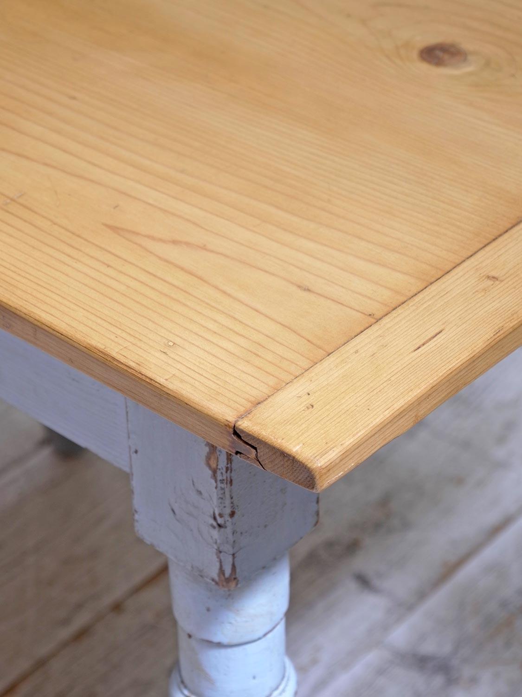 PJ1068b アンティークパイン ペイントテーブル