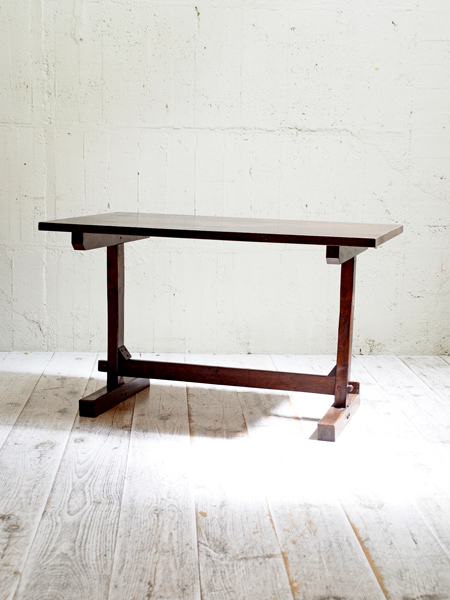 KQ85 アンティーク オークリフェクトリーテーブル
