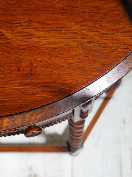 KQ114 アンティーク オークホールテーブル