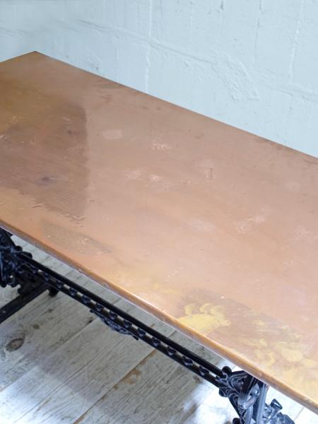 KQ60 アンティーク コパートップアイアンテーブル